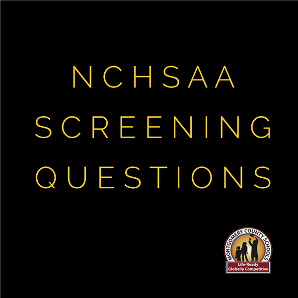 NCHSAA Initial Screening Questions for Students