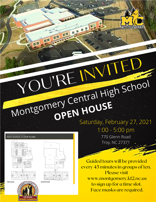Montgomery Central Open House - Saturday, February 27, 2021