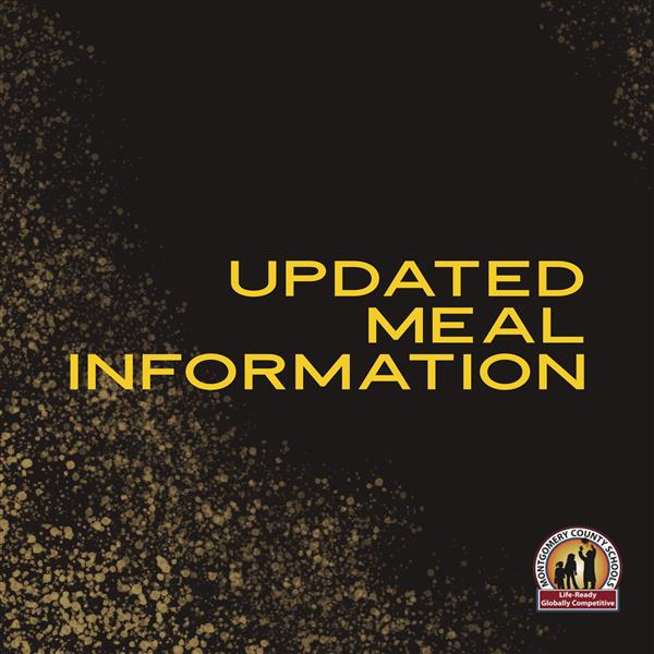 Updated Meal Information