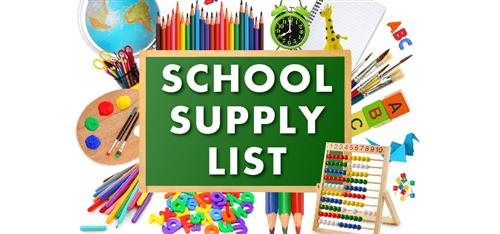 2018-2019 School Supply List for Students