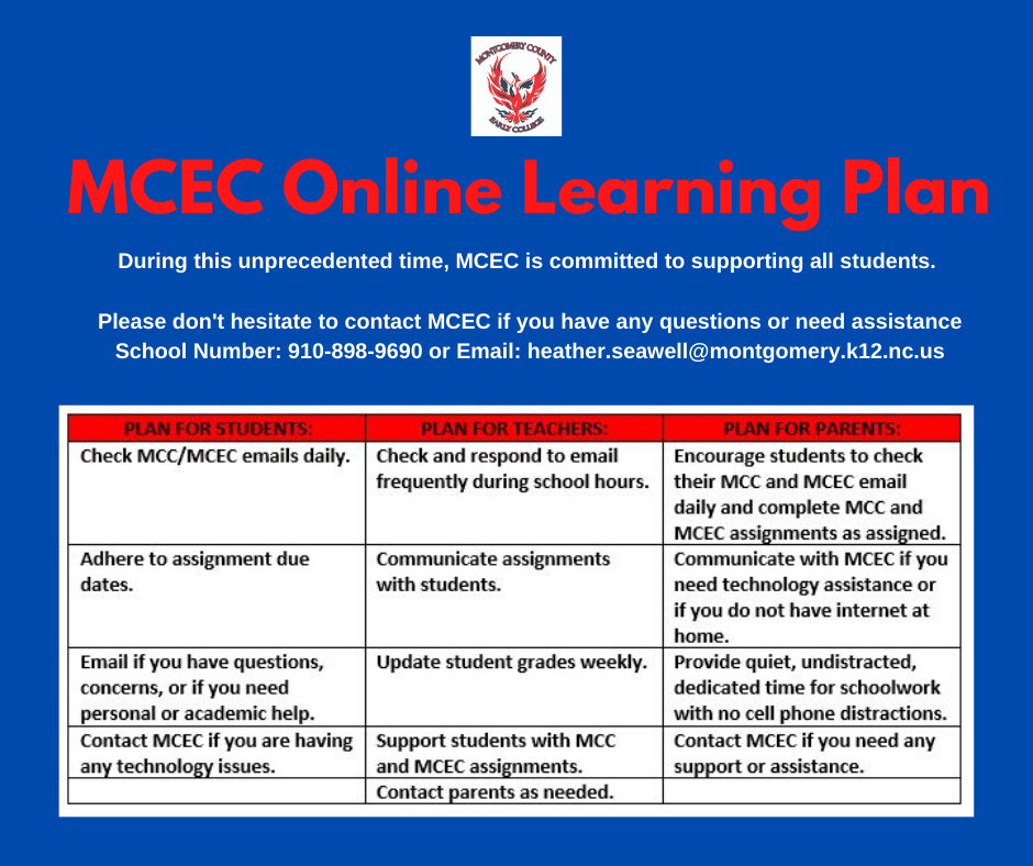 MCEC Online Learning Plan