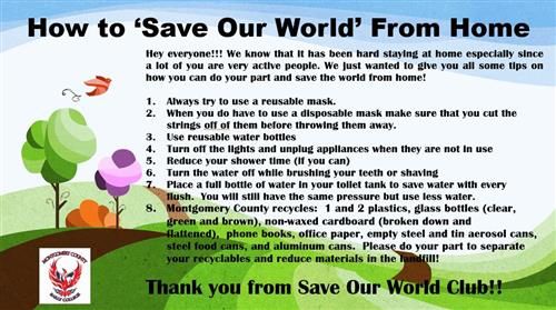 How to 'Save Our World' From Home