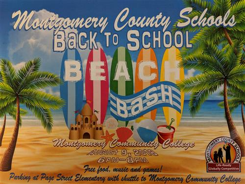 Back to School Beach Bash poster