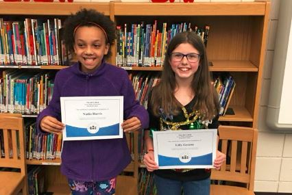 Spelling Bee Winner Lily (on right) and Runner-up Nadia (on left)
