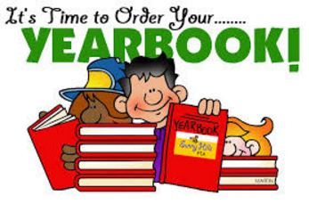 Picture of students with yearbooks titled It's Time to Order your Yearbook