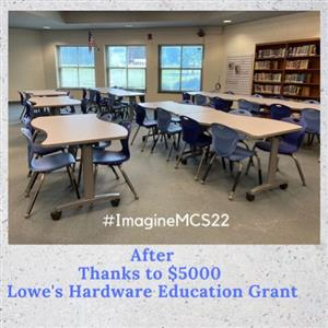 Lowe's Hardware Grant Upgrades Library Furniture